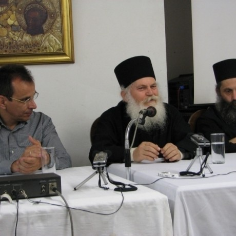 THE ABBOT OF H.G.M. VATOPAIDI ARCHIMANDRITE EPHRAIM AT THE T.C.B.