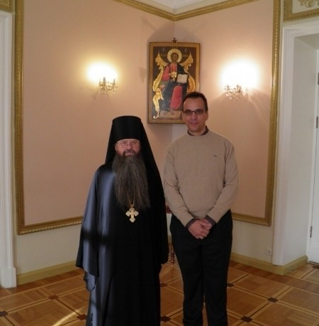 WITH THE ABBOT ALEXEY OF HOLY MONASTERY OF ST. DANIEL IN MOSCOW