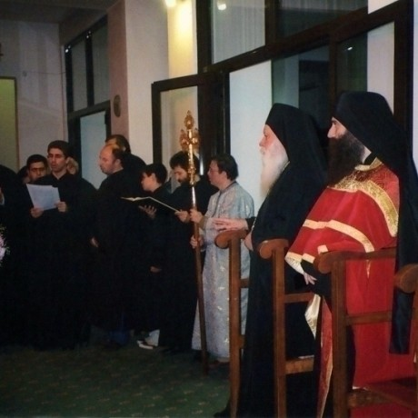 ALL NIGHT VIGIL FOR THE FEAST OF THE PRESENTATION OF VIRGIN MARY AT THE PARISH OF ST. PARASKEVI NEA PENTELI, WITH THE VERY REVEREND ASCHIMANDRITE ALEXIOS ABBOT OF THE H.M. XENOPHON M. ATHOS
