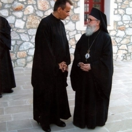 K. ANGELIDES WITH HIS EMINENCE DEMETRIOS ARCHBISHOP OF AMERICA